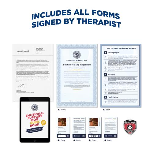 Emotional Support Dog Basic Kit + Signed ESA Letter