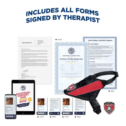 Emotional Support Dog Complete Kit + Signed ESA Letter