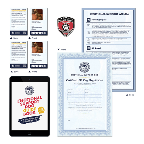 Nation Wide ID and Certificate for Emotional Support Dog